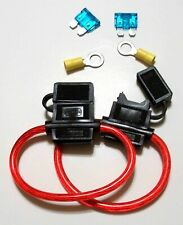 2 ATC10  Inline Fuse Holder 10GA + 15A Fuse + Ring Terminals