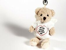 Rudolph Schaffer Bear Angel Keyring - SC3197, Brown & White, Metal & Plush