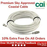 Satellite Extension Coaxial Cable Single Premium 10% Extra Free With Connectors