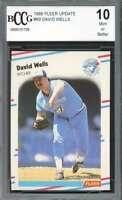 1988 fleer #69 DAVID WELLS toronto blue jays rookie card BGS BCCG 10