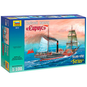 ZVEZDA 9013 Model Kit Paddle Steamer Sirius, 1/100