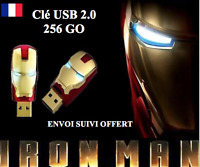 Clé usb 256 GO 2.0 Avengers Iron Man 3 Memory Stick Flash Pen Drive 256 GB NEUF