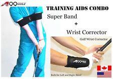 A99 GOLF Swing Training Aids Wrist Corrector brace + Super swing band