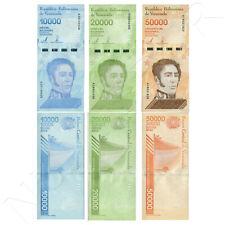 VENEZUELA  10.000 + 20.000 + 50.000 Bolivares 2019 (2020)  (nuevo diseño)