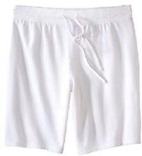 Plus-Size 2X Lounge Shorts - White