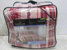 Cuddl Duds 4 Pc King Comforter Set Red/Ivory Plaid 2114041