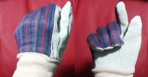 12 x Womens Gardening Work Gloves With Sky Blue Suede Leather Palms Garden DOZEN