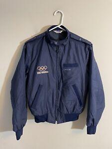 Vtg 1984 Olympic Summer Games XXIII Olympiad Divers Only Blue Jacket Sz Medium