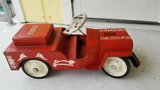 Structo all steel Jeep Fire Department Pumper No 26 Ride On toddler ride on toy