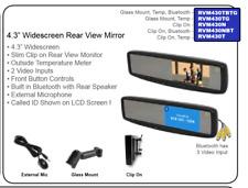 "Accele RVM430N 4.3"" Rear View Widescreen LCD Clip on Mirror"