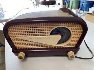 1949 Philco Transitone 49-503 48-230 Flying Wedge Jetsons Mid Century Tube Radio