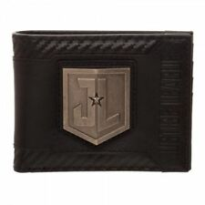 Justice League Movie JL Metal Logo Men's Boxed Bi-Fold Wallet