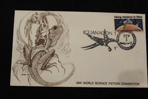 SPACE COVER 1978 FANCY CANCEL IGUANACON 1 36TH WORLD SCIENCE FICTION CONV (5061)