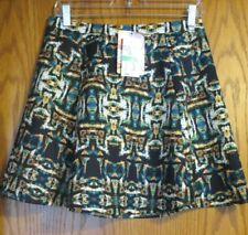 4a959fc42ca0e New ListingNWT Lily White Brand women's large navy w/ colorful pattern  skirt elastic waist