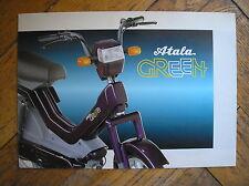 ATALA GREEN LL 2M RL RC CICLOMOTORE SCHEDA TECNICA SALES BROCHURE PROSPEKT MOTO