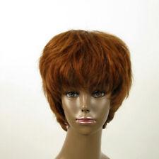perruque AFRO femme 100% cheveux naturel châtain clair cuivré ref SHARONA 03/30