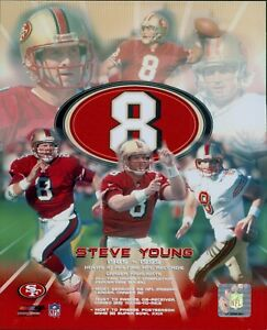 Steve Young San Francisco 49ers NFL Licensed Unsigned Glossy 8x10 Photo B