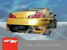 for G35 Coupe 03-07 F style Poly Fiber Rear bumper body kit