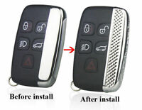 Chrome 5 Buttons Key Case Cover Shell Trim for Land Rover Discovery 5 2017 ABS