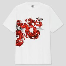 Demon Slayer Kimetsu no Yaiba x UNIQLO T-shirt White size L Men NEW F/S Japan