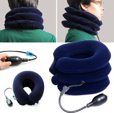 Air Inflatable Pillow Cervical Neck Headache Pain Traction Support Brace Device