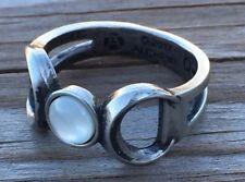Triple Moon Goddess Ring - Alchemy Gothic Sz 6 w/ Mother of Pearl Goddess Ring