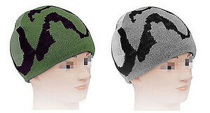 Strickmütze Kappe Winterhaube Wollmütze grün grau blau camouflage tarnfarben Ski