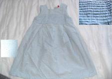8 ans robe été plissée brodée