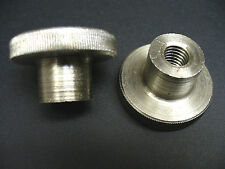M8 METRIC KNURLED NUT WITH SHOULDER, STAINLESS STEEL, DIN 466 TWO PIECES