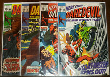 DAREDEVIL LOT OF 4 ISSUES 58 60 65 66 - VF TO VF+