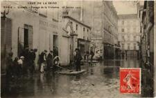 CPA PARIS Grenelle Passage de la Visitation INONDATIONS 1910 (606045)