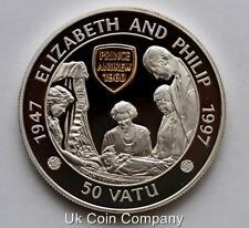 1997 Vanuatu Silver Gold Proof 50 Vatu Crown Coin