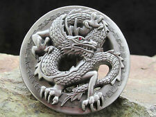 # 0299 Gürtelschnalle, Buckle, red rhinestone eye dragon, Drache,