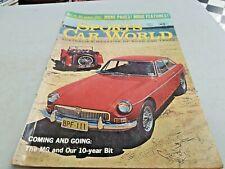 May 1967 SPORT CAR WORLD Magazine MGB GT vs MG TC , Dino , FIAT 124 COUPE