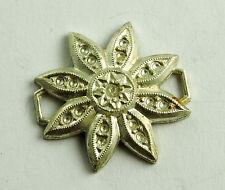 Antique Sterling Silver Unusual Bracelet Pendant Flower  Design Piece #EST566