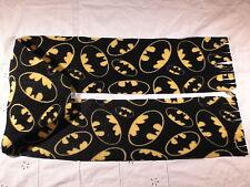 BATMAN Emblem Fleece Scarf Yellow on Black