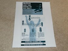 Mullard Tube Ad, EL-34,37,84,EF-86,GZ34, Articles, 1 pg