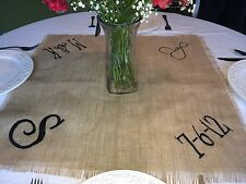 Personalized Monogram Wedding Reception Table Square Topper Cloth table cloth