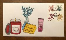 2019 Winter Berries Set FDC Beautyberry Soapberry Juniper Hand Drawn Cachet #/1