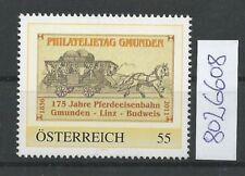 Österreich  personalisierte Marke Philatelietag GMUNDEN 8026608 **