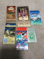 6 MISCELLANEOUS NOTRE DAME FOOTBALL FULL TICKETS & TICKET STUBS