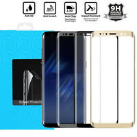 Full Cover Tempered Glass Screen Protector For Samsung Galaxy S8 & S8 Plus 9H