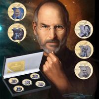 5pcs Pièce de monnaie commémorative en or de Steve Jobs pour iPod dans la boite