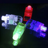 10Pcs Glow in the Dark Party Supplies LED Light Up Finger Rings Concerts