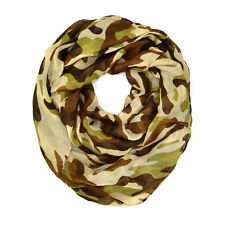 Camouflage Camo Print Hunting Outdoor Circle Loop Infinity Scarf Multi Color