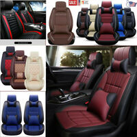 5D PU Leather 5-Seats Car Seat Cover Protector Cushion Front&Rear Interior US