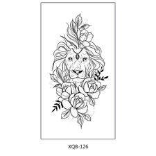 Löwen Tattoo Blumen Tattoo Fake Tattoo Arm Tattoo XQB126