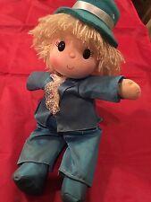 Vintage Wind-up Musical Motion Little Boy Doll - Head Rolls - Music Box Dancer