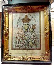 Our Lady of Lezanski, Poland: Litho Gold Gilt Frame - Apparition Vision of 1578