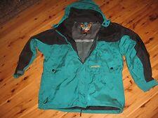 MENS L OBERMEYER WINTER SNOW SKI BOARD HOODED JACKET COAT GREEN - ASHCROFT